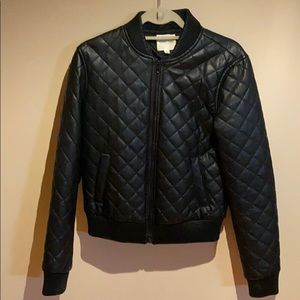 Silence + Noise quilted pleather jacket